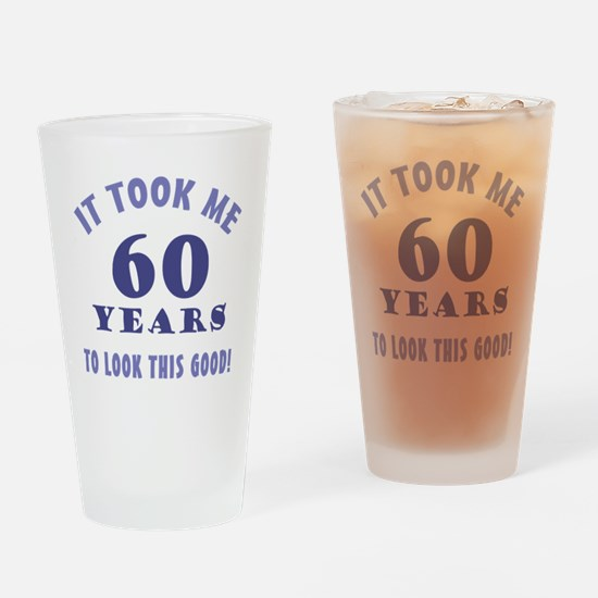 Hilarious 60th Birthday Gag Gifts Drinking Glass