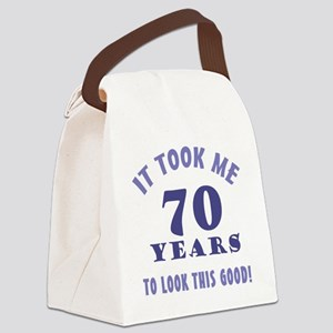 Hilarious 70th Birthday Gag Gifts Canvas Lunch Bag
