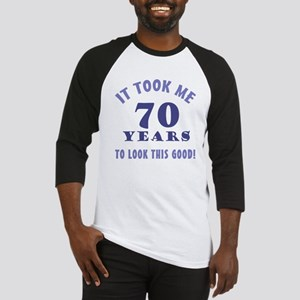 Hilarious 70th Birthday Gag Gifts Baseball Jersey