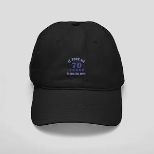 Hilarious 70th Birthday Gag Gifts Black Cap