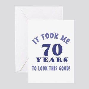 Hilarious 70th Birthday Gag Gifts Greeting Card