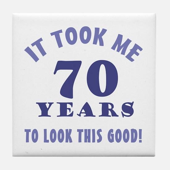 Hilarious 70th Birthday Gag Gifts Tile Coaster