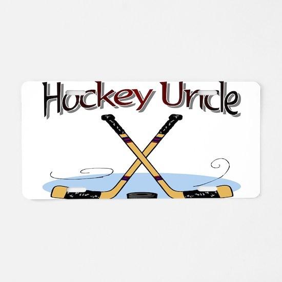 Unique Hockey stick Aluminum License Plate