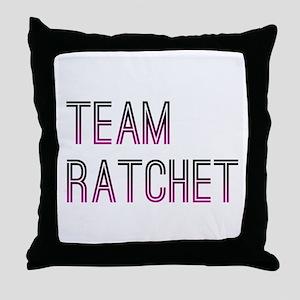 Team Ratchet2 Throw Pillow