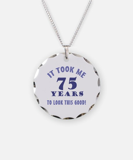 Hilarious 75th Birthday Gag Gifts Necklace