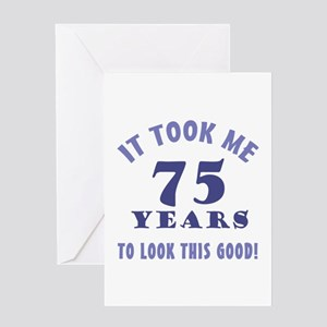 Hilarious 75th Birthday Gag Gifts Greeting Card