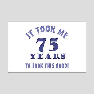 Hilarious 75th Birthday Gag Gifts Mini Poster Prin