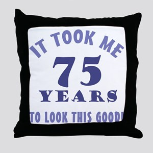 Hilarious 75th Birthday Gag Gifts Throw Pillow