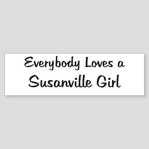 Susanville Girl Bumper Sticker