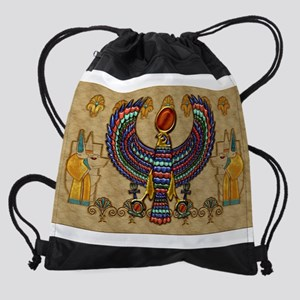 Harvest Moons Egypt Hawk Drawstring Bag