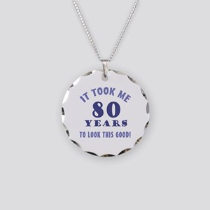 Hilarious 80th Birthday Gag Gifts Necklace Circle