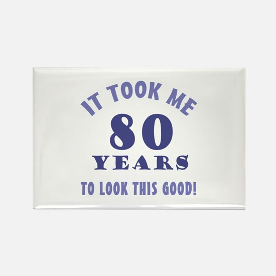 Hilarious 80th Birthday Gag Gifts Rectangle Magnet