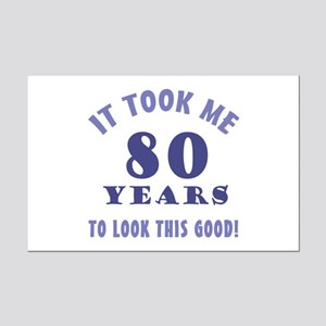 Hilarious 80th Birthday Gag Gifts Mini Poster Prin