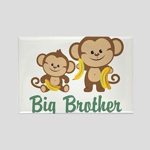 Big Brother Monkeys Rectangle Magnet