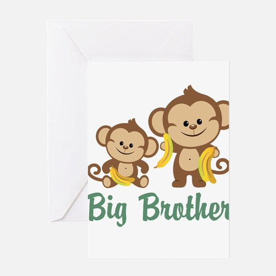 Big Brother Monkeys Greeting Card