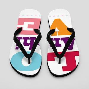 I Love Anahi Flip Flops