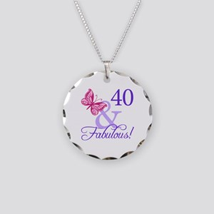 40 And Fabulous Necklace Circle Charm