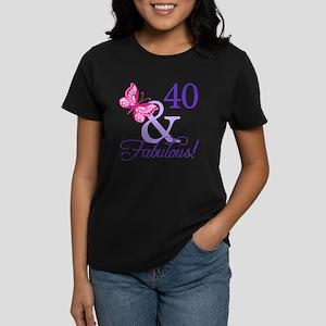 40 And Fabulous Women's Dark T-Shirt