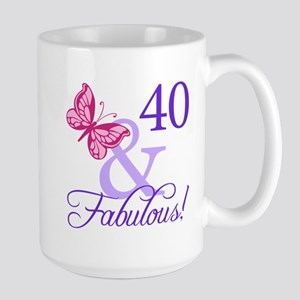 40 And Fabulous Large Mug