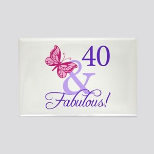 40 And Fabulous Rectangle Magnet