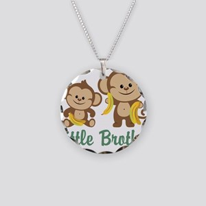 Little Brother To Be Monkey Necklace Circle Charm