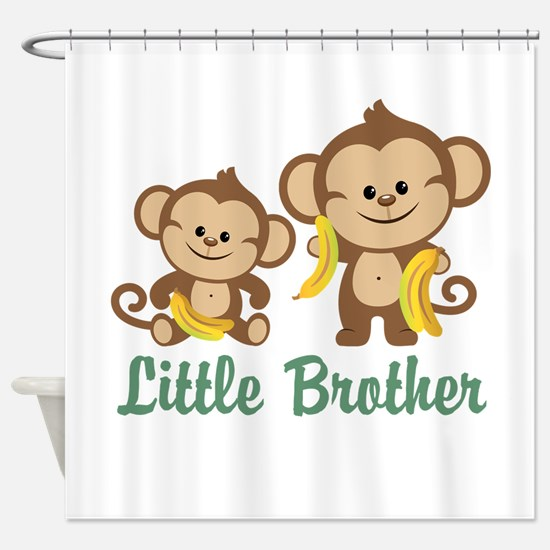 Little Brother To Be Monkey Shower Curtain