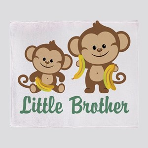 Little Brother To Be Monkey Throw Blanket