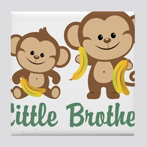 Little Brother To Be Monkey Tile Coaster