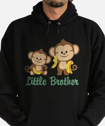 Little Brother To Be Monkey Hoodie (dark)