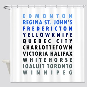 Canadian Cities - Blue Shower Curtain