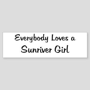 Sunriver Girl Bumper Sticker