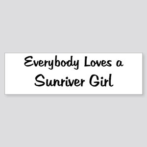 Sunriver Girl Bumper Sticker