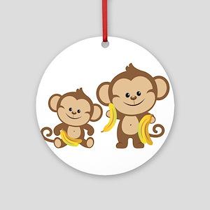 Little Monkeys Ornament (Round)