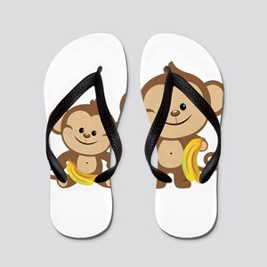 Little Monkeys Flip Flops