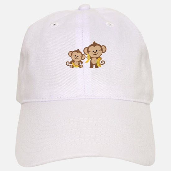 Little Monkeys Baseball Baseball Cap