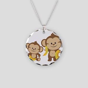 Little Monkeys Necklace Circle Charm