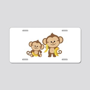 Little Monkeys Aluminum License Plate