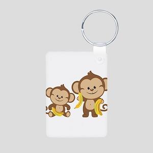 Little Monkeys Aluminum Photo Keychain