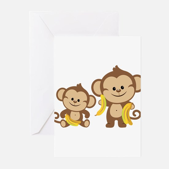 Little Monkeys Greeting Cards (Pk of 20)