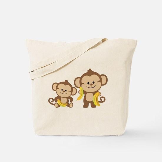 Little Monkeys Tote Bag