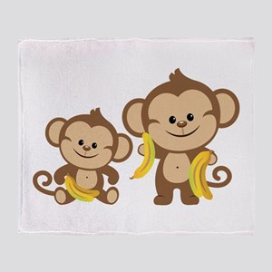 Little Monkeys Throw Blanket