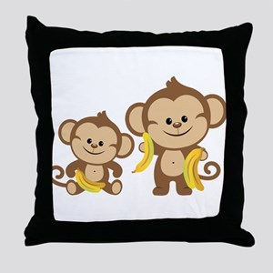 Little Monkeys Throw Pillow