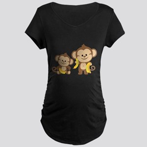 Little Monkeys Maternity Dark T-Shirt
