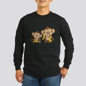 Little Monkeys Long Sleeve Dark T-Shirt