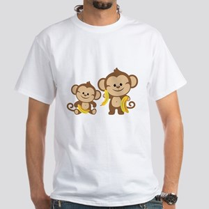 Little Monkeys White T-Shirt