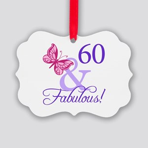 60 And Fabulous Picture Ornament
