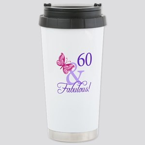 60 And Fabulous Stainless Steel Travel Mug
