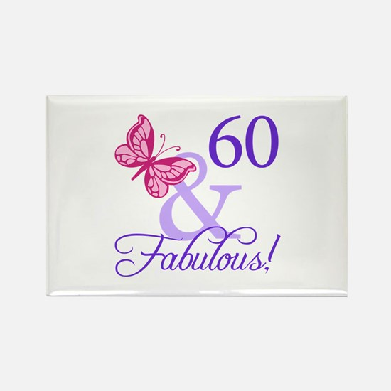 60 And Fabulous Rectangle Magnet