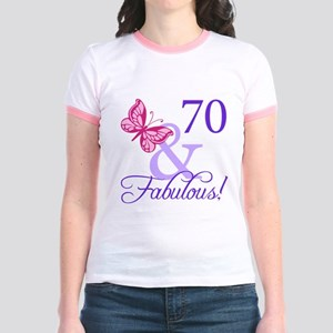70 And Fabulous Jr. Ringer T-Shirt