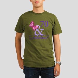 70 And Fabulous Organic Men's T-Shirt (dark)